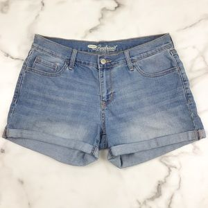 Old Navy Boyfriend Rolled Cuff Jean Shorts